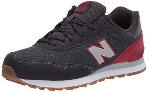 New Balance Kid's 515 V1 Lace-Up Sneaker, Phantom/Neo Crimson/Grey, 7 M US Big Kid