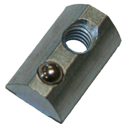 Faztek - 15FA3536 15 Series Carbon Steel Drop In T-Nut with Alignment Ball, Clear Zinc Finish, 1/2