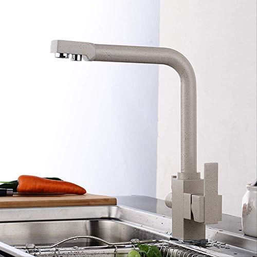 Girella da cucina in acciaio inossidabile nero,Rubinetto Cucina, 360° Estraibile Rubinetti Cucina con Doccetta