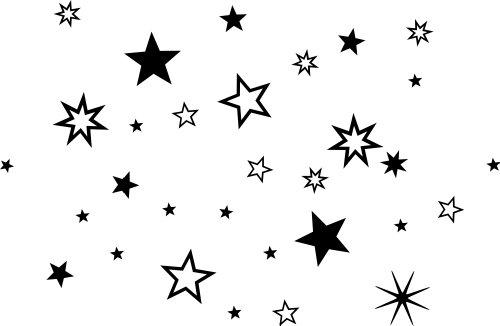 90 Stück Schwarze Sterne Aufkleber, Mix-Set, Fensterdekoration zu Weihnachten Fensterbild / Fensteraufkleber, Wandtattoo Deko Sticker, Autoaufkleber, Weihnachtsdekoration Sternchen 70001