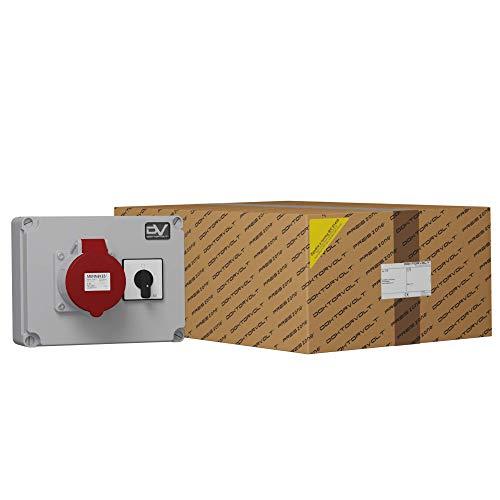 Wanddose WDD 1x32A + Nockenschalter 40A 0-1 2992