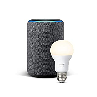 Echo Plus (2.ª generación), tela de color antracita + Philips Hue White BombillaLED E27 (B07H2WSKVK) | Amazon price tracker / tracking, Amazon price history charts, Amazon price watches, Amazon price drop alerts