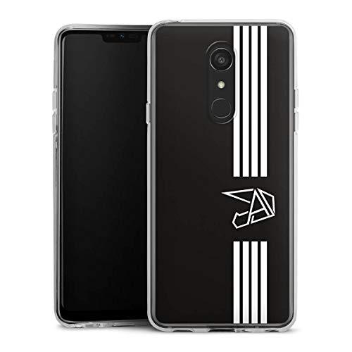 DeinDesign Silikon Hülle kompatibel mit LG G7 Fit Hülle transparent Handyhülle Anica Youtuber Streifen