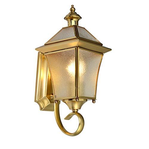 Caim-Spots LED-wandlampen, voor buiten, koper, met E27-fitting, buitenverlichting voor garage, wandlamp, buitenverlichting