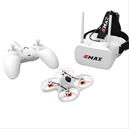 xiaozhu1218 Emax Tinyhawk FPV Racing Drone Rtf F4 4-in-1 3a 15000kv 37ch 25mw 600tvl Vtx 1s W / 1pc Controller E Occhiali 1pc Bianca