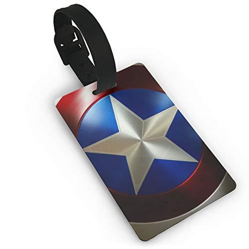 Meirdre Capitán América Etiquetas para Equipaje Etiquetas para Maleta Bolsa Accesorios de Viaje