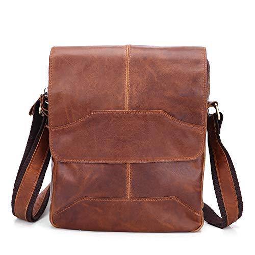 Herenmode schouder diagonaal pakket, multi pocket mens riem schoudertas Style echt leer Messenger Bag voor mannen