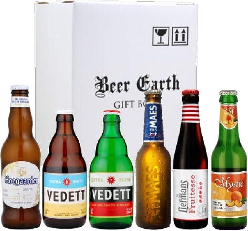 吐くスカリー先生ベルギービール 飲み比べ6本 Bセット【ヴェデット/リーフマンス/ミスティックピーチ/ヒューガルデンホワイト】専用ギフトボックスでお届け