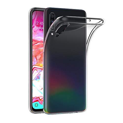 AICEK Hülle Compatible für Samsung Galaxy A70 Transparent Silikon Schutzhülle für Samsung A70 Hülle Clear Durchsichtige TPU Bumper Galaxy A70 Handyhülle (6,7 Zoll)