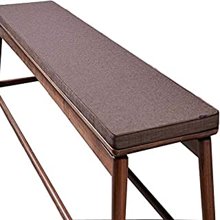 sunshinelh Cojín de banco de jardín de alta calidad para 2 asientos de 3 plazas, antideslizante, cojín de asiento de banco de madera, colchón de repuesto para interior y exterior (30 x 200 x 5 cm)