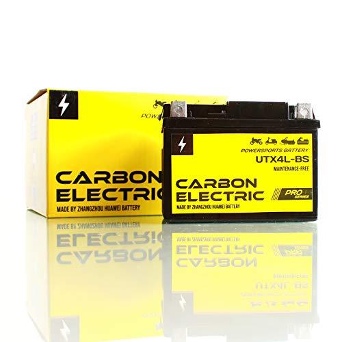 Carbon Electric AGM Batterie UTX4L-BS 3Ah 12V YTX4L-BS Motorradbatterie Motorrad Roller Rollerbatterie