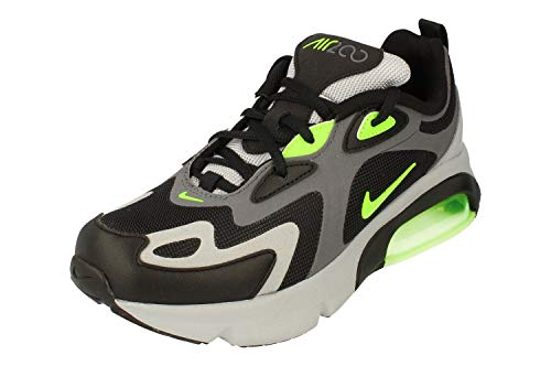 Nike Air Max 200 GS Running Trainers AT5627 Sneakers Chaussures (UK 6 US 6.5Y EU 39, Dark Grey Electric Green 006)