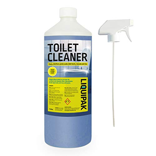 Toilet Cleaner and Descaler Spray - For Bathrooms, Removes Limescale and Grime 1-20 Litres (1 Litre)