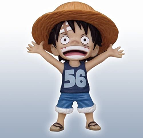 ONE PIECE One Piece World Collectable Figure character pictogram tank top ver. Luffy 56ver. Single item Banpresto Prize (japan import)