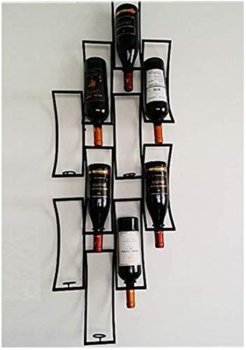 TUHFG Weinregal Wein-Flaschenregal, Plaid-Wand hängen Schmiedeeisen Wein/Becher Halter Kleiderbügel Weinregale Weingut-Winzer-Bar-Display-Weinglas-Rack, b (Color : B)