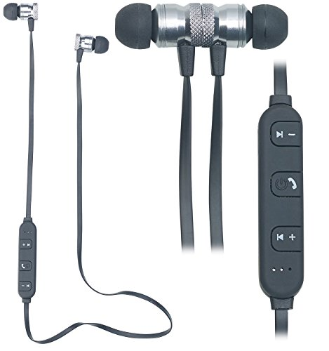 auvisio Wireless headphones: in-ear stereo headset SH-30 with Bluetooth 4.1 and magnetic closure (headphones, Bluetooth).