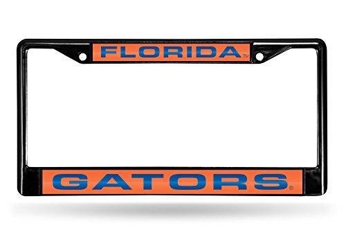 NCAA Rico Industries Laser Cut Inlaid Standard Chrome License Plate Frame, Florida Gators