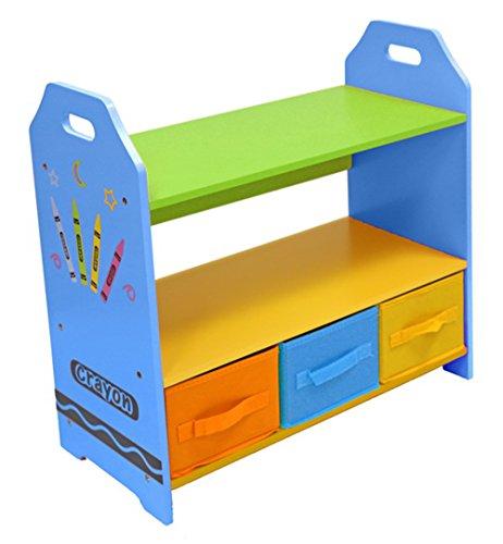 Kiddi Style les Enfants Bois Étagère et boites de rangement multicolore