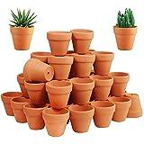 72 Pcs Small Mini Clay Pots - 2'' Terracotta Pot Ceramic Pottery Planter Terra Cotta Flower Pot Succulent Nursery Pots Great for Windowsill, Cactus Plant, Crafts, Wedding Favors Baby Shower