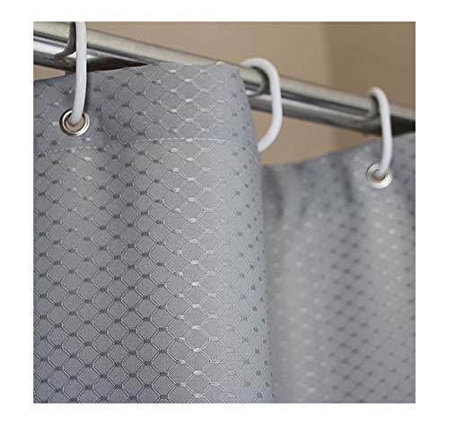 MaxAst Duschvorhang Wasserdicht Und Anti-Schimmel Duschvorhang Karierter Stoff Duschvorhang Polyester Silbergrau Duschvorhang 200x240