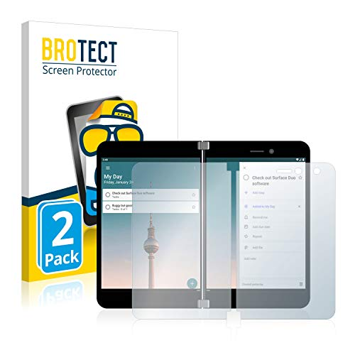brotect 2-Pack Screen Protector Anti-Glare compatible with Microsoft Surface Duo Screen Protector Matte, Anti-Fingerprint Protection Film