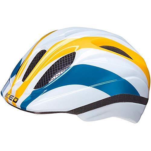 KED Meggy II Trend Helm Kinder Rainbow Retro Yellow Kopfumfang M | 52-58cm 2021 Fahrradhelm
