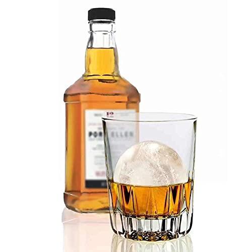 -El moldes de cubo, 4 Cavity Formulario de cubo de hielo para hielo de silicona flexible de hielo Cóctel de whisky , BRICOLAJE Herramienta de...
