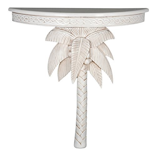 International Caravan Furniture Piece Windsor Carved Exotic Palm Tree Wall Table