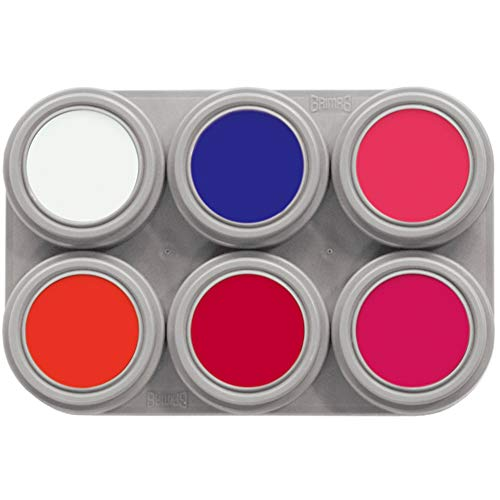 Grimas - Maquillaje al Agua Pure, Paleta F6, Color flúor (20602000F6)