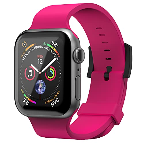 Superdry Bracelet de montre compatible avec Apple Watch, bracelet en nylon confortable, flexible, idéal pour le sport, le fitness, la course à pied, 38/40 mm, rose