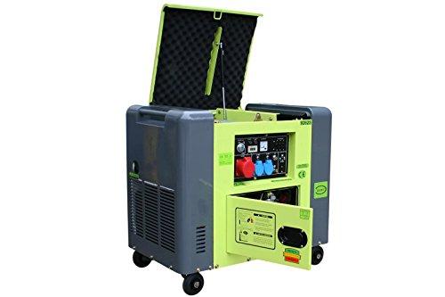 Varan Motors 92625-ATS Diesel Stromerzeuger 6.25kVA, 1 x 400V, 2 x 230V + Elektrostarter ATS