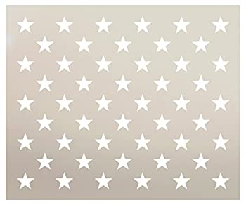 American Flag 50 Star Stencil by StudioR12 | Reusable Mylar Template | Use for Arts Crafts DIY Decor | Painting Mixed Media Air Brushing  19  x 13.46   for 47.52  x 25  Flag