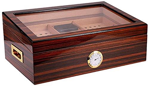 Caja de cigarrillos, higrómetro desmontable caja de almacenamiento de cigarros estable, gabinete de almacenamiento de cigarros de escritorio caja decorativa, YKHAO