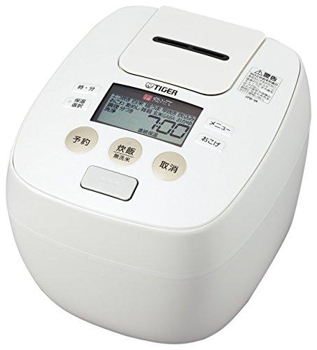 タイガー 炊飯器 5.5合 圧力 IH ホワイト 炊きたて 炊飯 ジャー JPB-W100-W Tiger