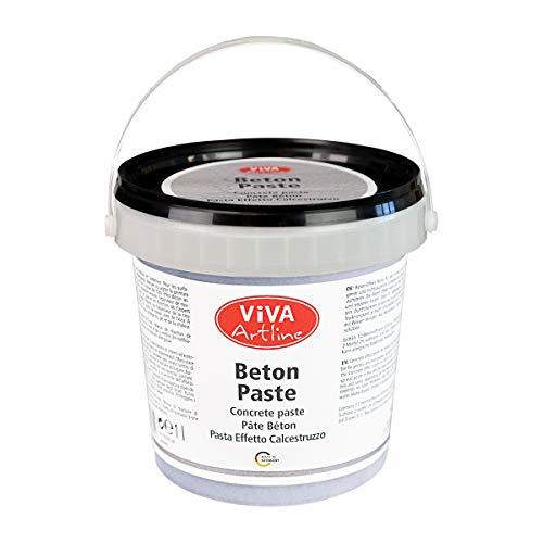 Viva Decor® Artline Beton Paste (Grau, 1 l) Strukturpaste zum Malen - Betonoptik für Leinwand und Deko - Beton Farbe für Kreative und Künstler - Made in Germany