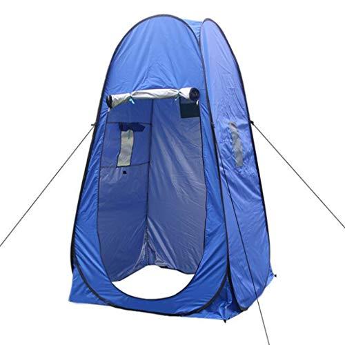Yunyisujiao Pop Up Privacy Portable Camping, fietsen, toilet, douche, strand en kleedcabine Extra hoog, ruime tentsteun in de vrije rugzak - (groen, blauw)