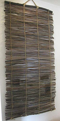 インテリア芒草タペストリー 約W50×H100㎝ 日除けすだれ 壁掛け 天然素材