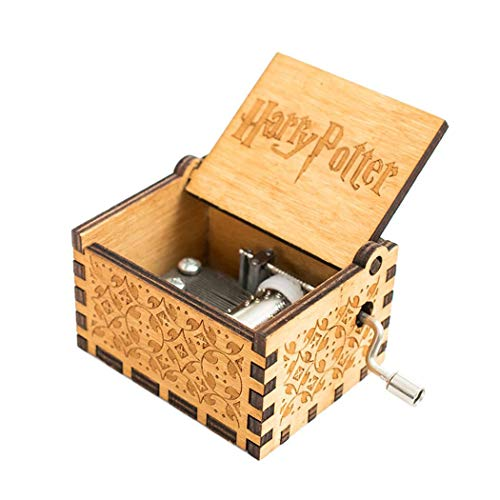 Cooshional Caja de Musica Harry Potter Estilo Retro de Madera Tallada a Mano (Madera)