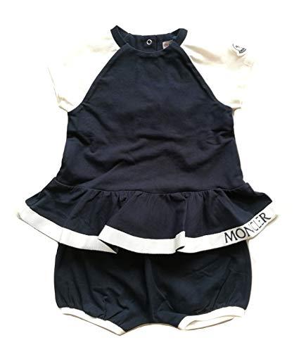 Moncler Junior Completo Coordinato Pantaloni Short + t-Shirt Bambina 8859305 Blu (12/18 Mesi)