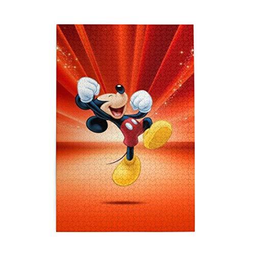 Rompecabezas de Mickey Mouse, rompecabezas de madera de 1000 piezas, juguetes intelectuales, desafiante rompecabezas casual para adultos y adolescentes
