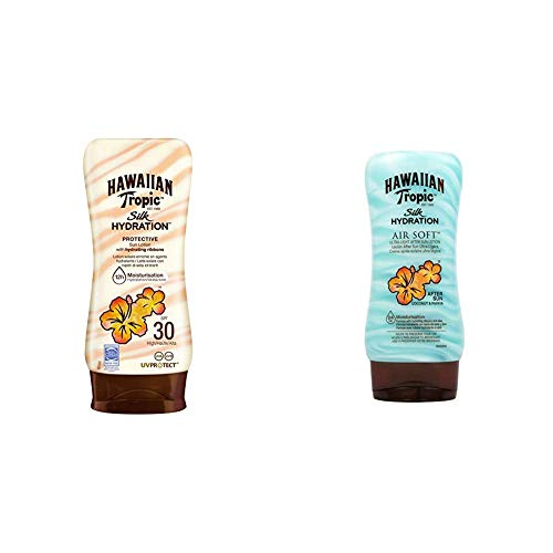 Hawaiian Tropic Silk Hydration Protective Sun Lotion Sonnencreme LSF 30, 180 ml, 1 St + Silk Hydration Air Soft After Sun Lotion, 180 ml