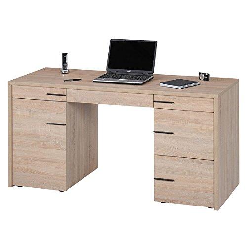 Jahnke CL 150 EI SÄGERAU T.1-2 Computer-Schreibtisch, E1-Spanplatten, melaminharzbeschichtet, 150 x 60 x 76 cm