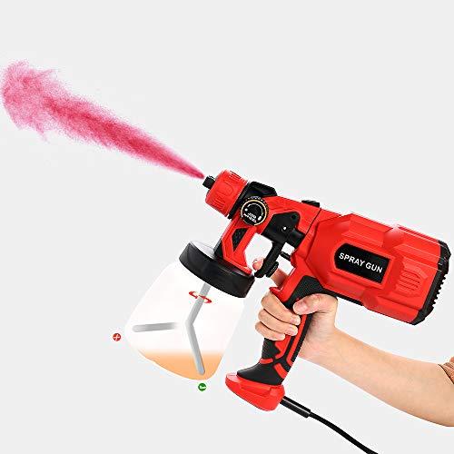 Pistola de Pintura 550W,Pistola de Pulverizacion Pintura Eléctrica Máximo de 800ml/min,Compresor Pintura y Pistola 3 Modos de Pintura,Fácil de Desmontar y Limpiar