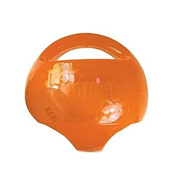 Le couineur et la balle intérieure rebondissante incitent au jeu Idéal pour les jeux interactifs Les poignées permettent d'attraper et d'agiter le jouet facilement Disponible en deux formes : Ball et Football Disponible en deux tailles : M/L et L/XL