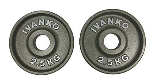 Ivanko (OM-2.5KG Cast-Iron, Machined Olympic Plate Grey 2.5 KILOGRAMS (Pair)