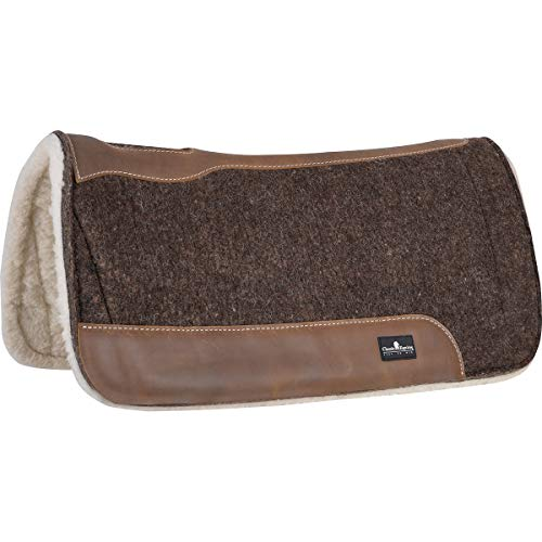 """Classic Equine Western Saddle Pad 3/4"""" Blended 30"""" X 30"""" Brown CBFPF34"""