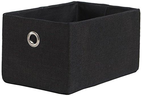 Compactor Panier en polyester York Noir, 23 x 15 x H 12 cm, RAN7426