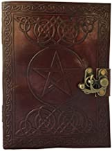 JOURNAL Writing Notebook - Handmade Leather Bound Daily Notepad For Men & Women Unlined Paper 8