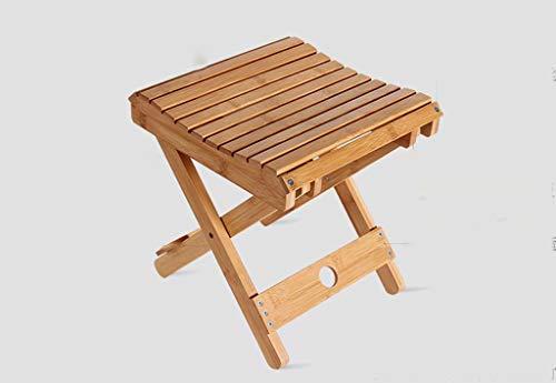 Tabouret / chaise se pliant portatif d'enfants en bambou de bambou, tabouret créatif extérieur de Mazar Fifishing Chair Tabouret de banc créatif à la maison Taille du produit: 38 * 28 * 30cm