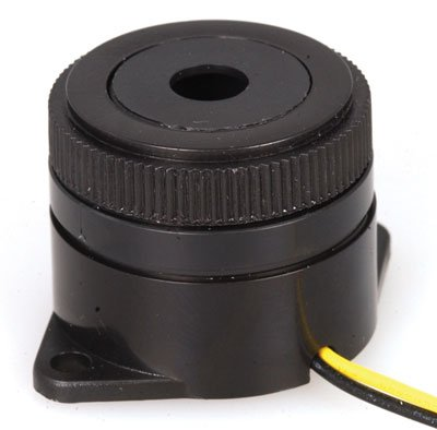 Buzzer,PIEZO,3200Hz,90dB,Black,3-15VDC,10mA,Wires,Pulse